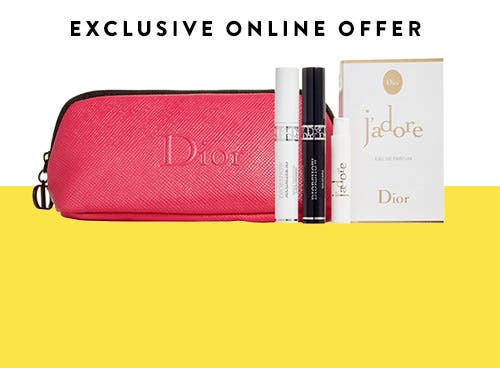 Dior Beauty gift with purchase.