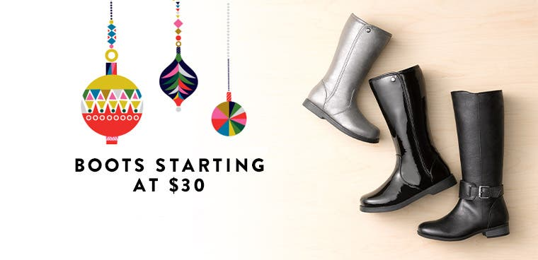 A gift for both of you: Boots starting at $30.