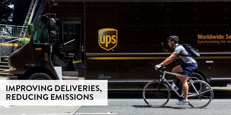Improving deliveries and reducing emissions