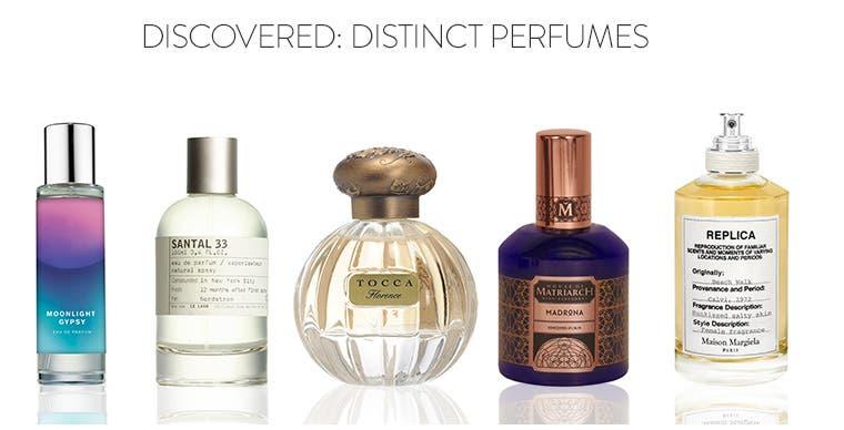 Discovered: distinct perfumes.
