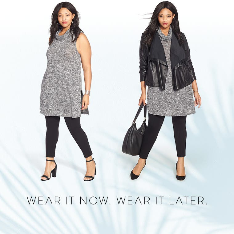 Wear it now. Wear it later. Anniversary Sale plus-size women's clothing.