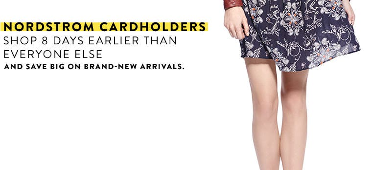 Anniversary Sale Early Access, July 14-21. Nordstrom cardholders shop 8 days earlier than everyone else.
