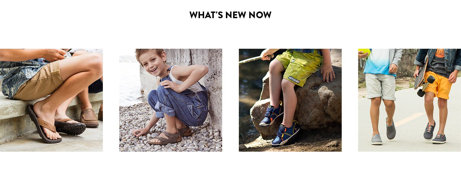 New spring sneakers, slip-ons and sandals for boys.