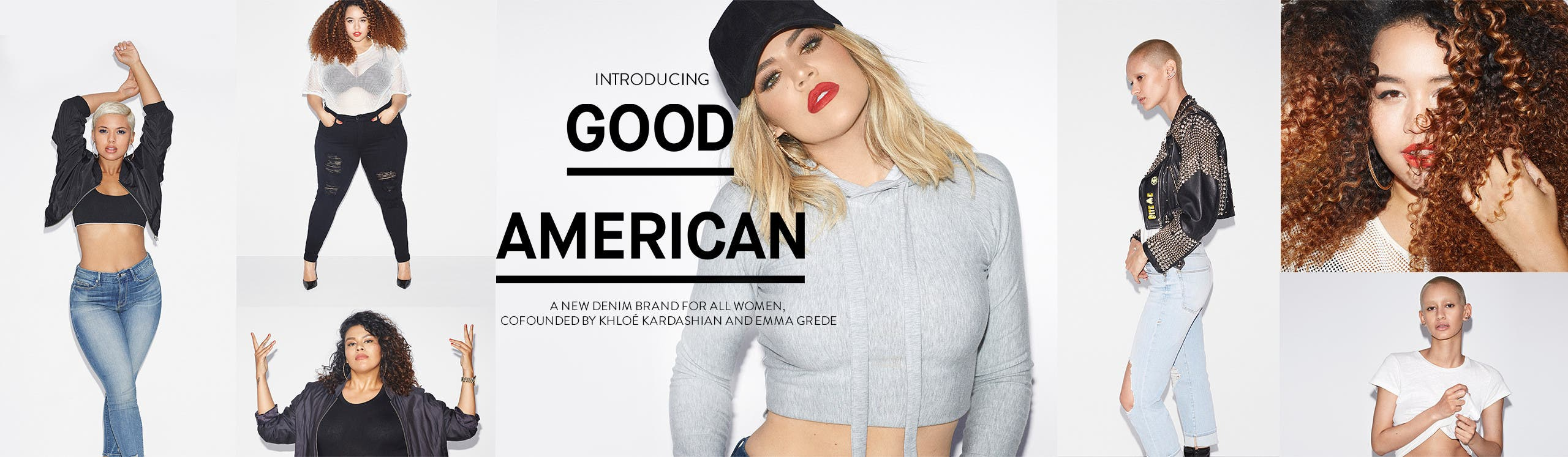 Introducing Good American women's jeans.