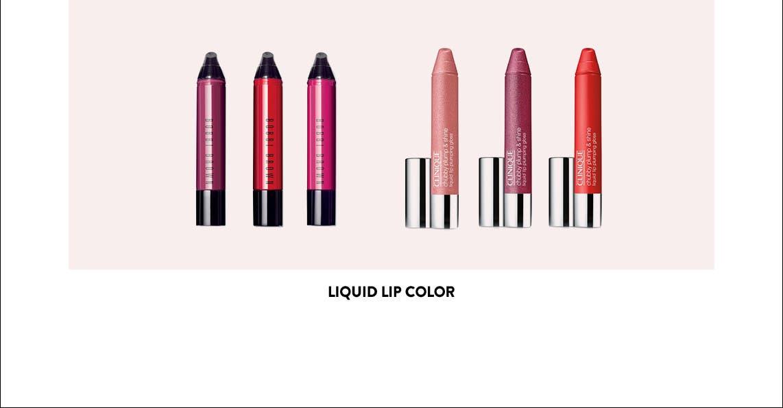 Liquid lip color.