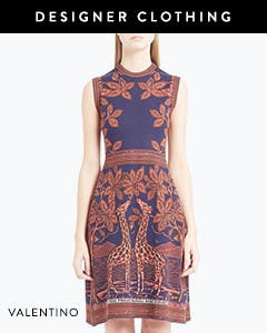 Designer clothing: Valentino giraffe knit dress.