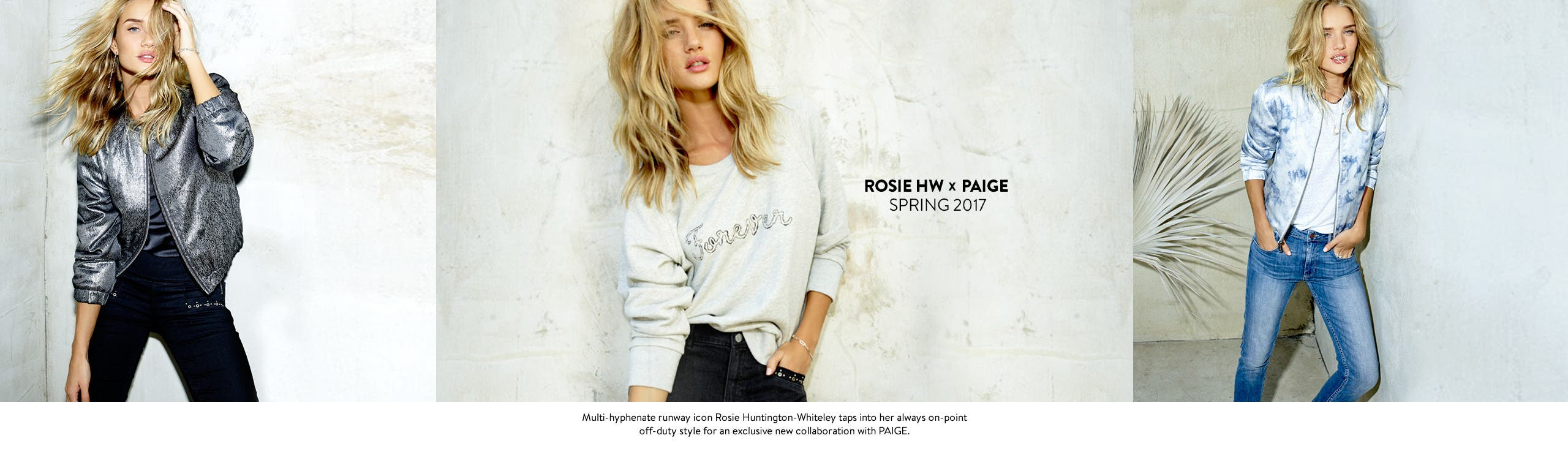 Rosie Huntington-Whiteley x PAIGE denim capsule collection.