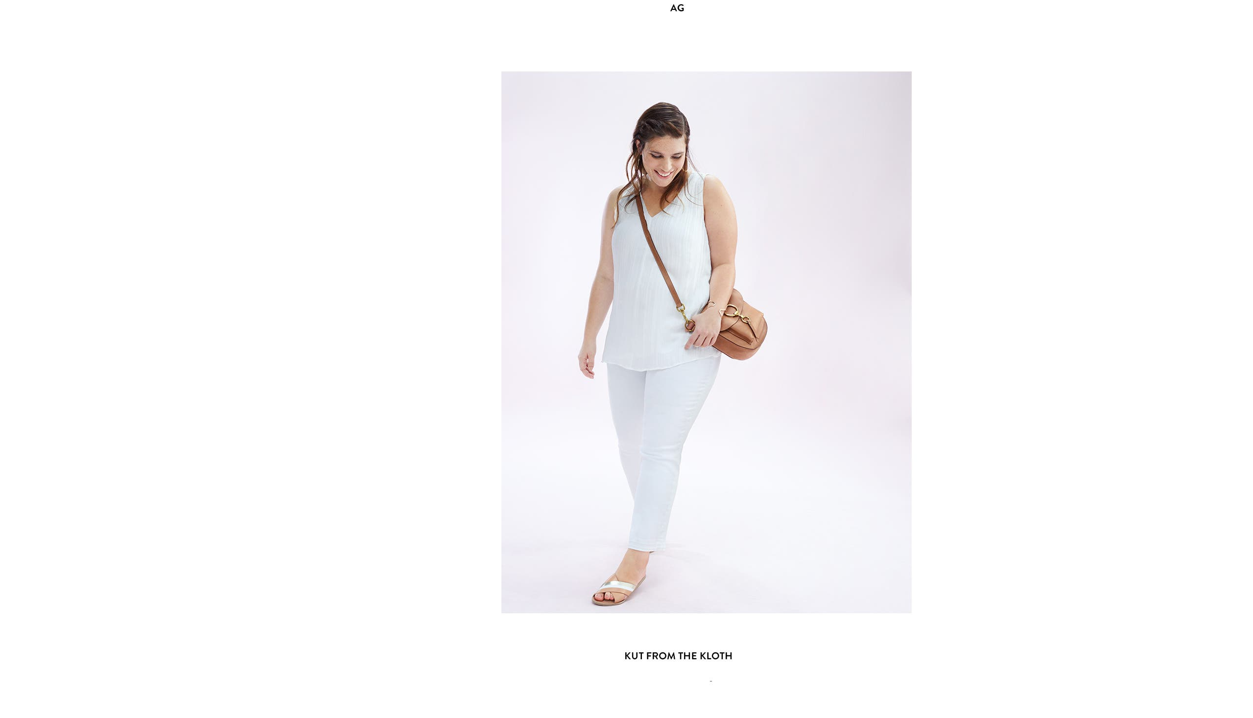 White plus-size jeans from KUT from the Kloth.