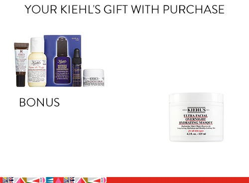 Kiehl's gift and bonus gift with purchase.