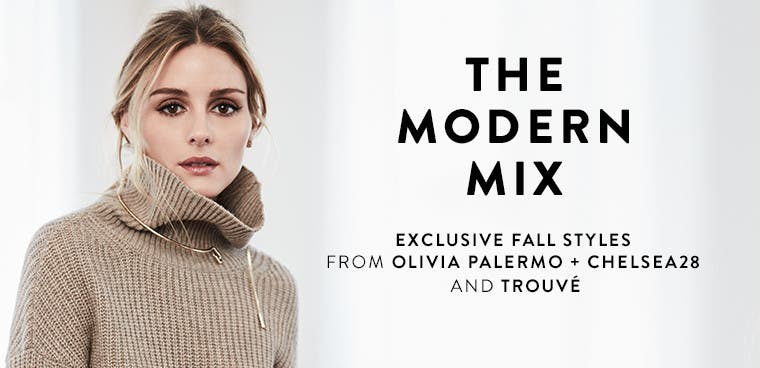 The modern mix: exclusive fall styles from Olivia Palermo + Chelsea28 and Trouvé.