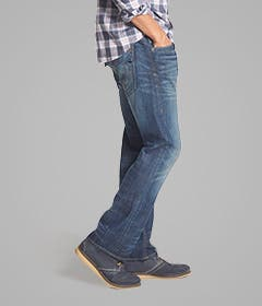 Bootcut jeans for men.