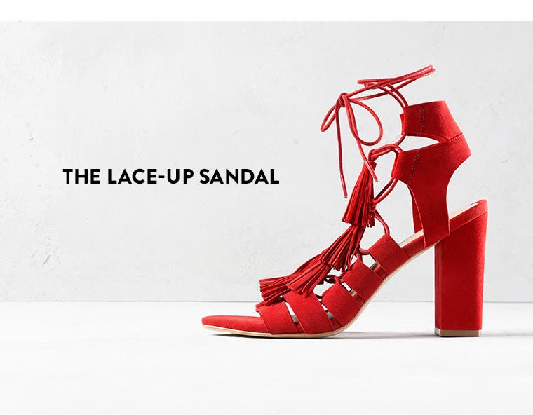 The lace-up sandal.