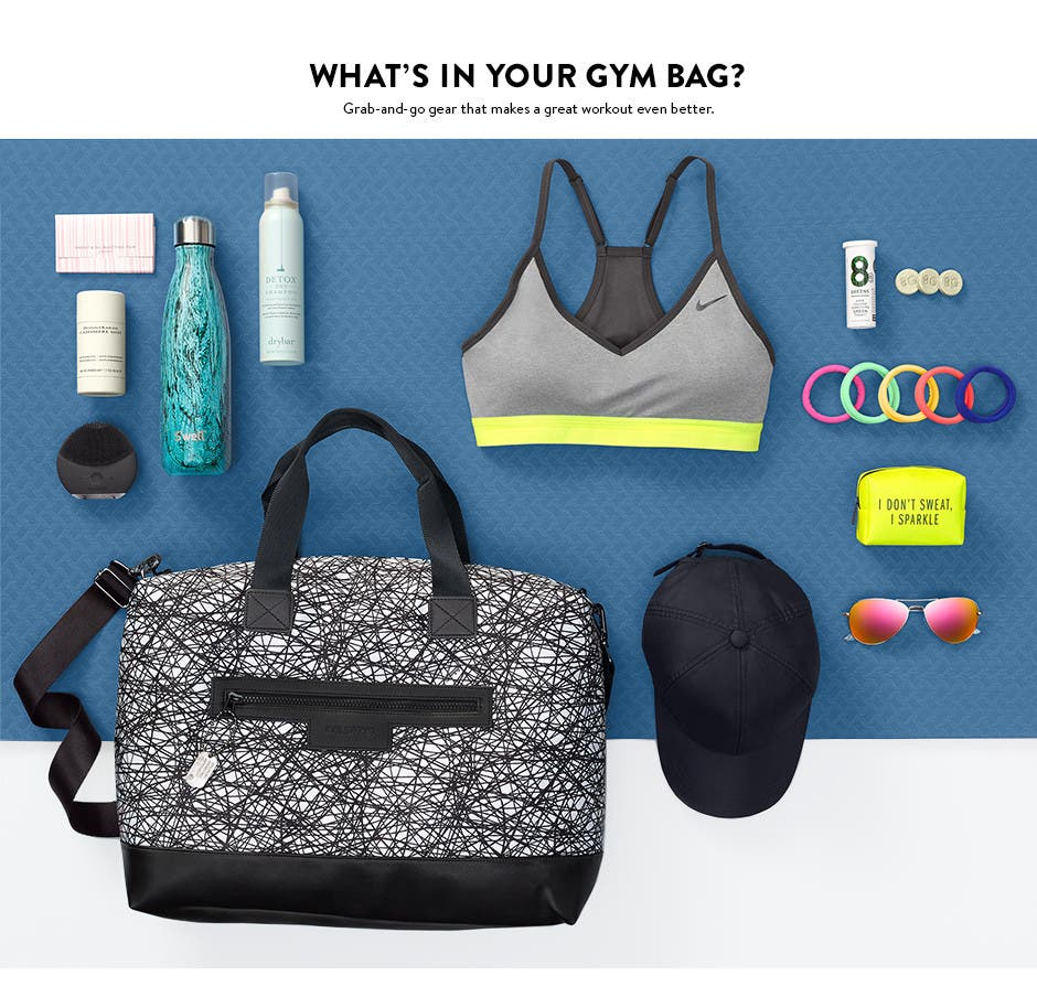 What's in your gym bag: active accessories for a better workout.