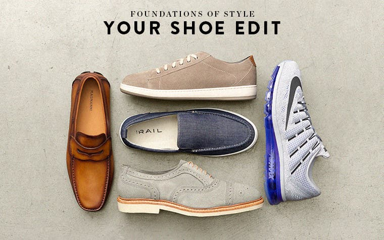 Foundations of style: your men's spring shoe edit.