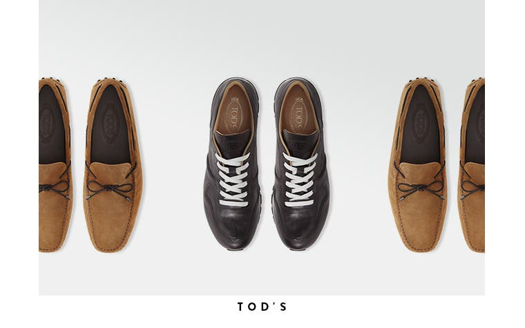 Men's designer shoes from Tod's and more.