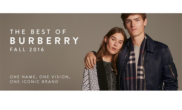 The best of Burberry, fall 2016. One name, one vision, one iconic brand.
