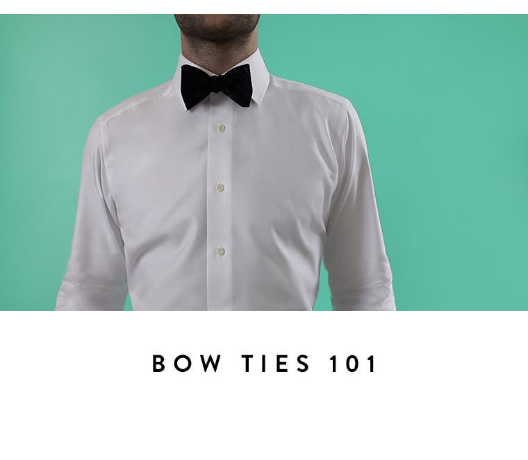 Video: Bow ties 101. Men's video on how to tie a bow tie.