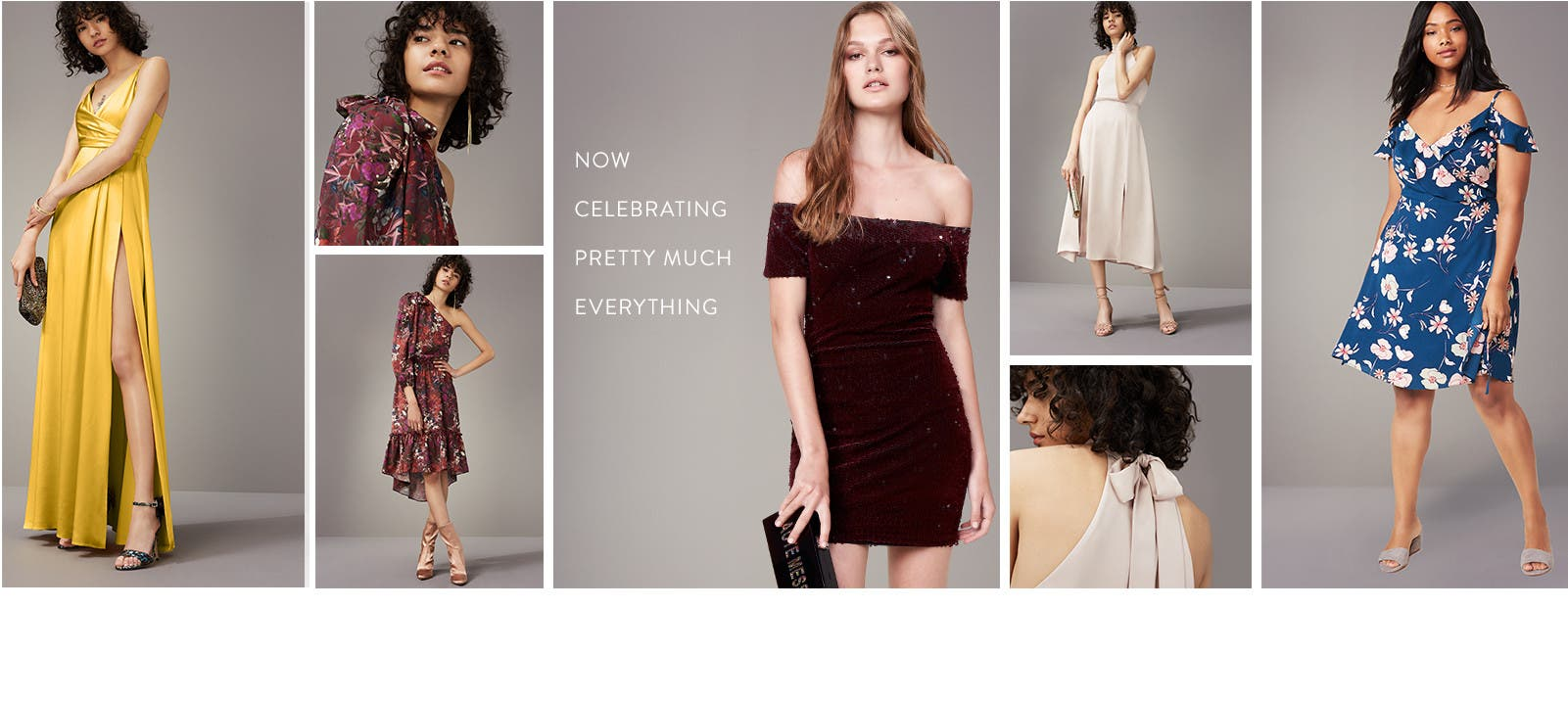 Now celebrating in romantic dresses.