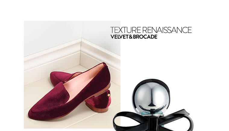 Texture renaissance: kate spade new york velvet shoes.