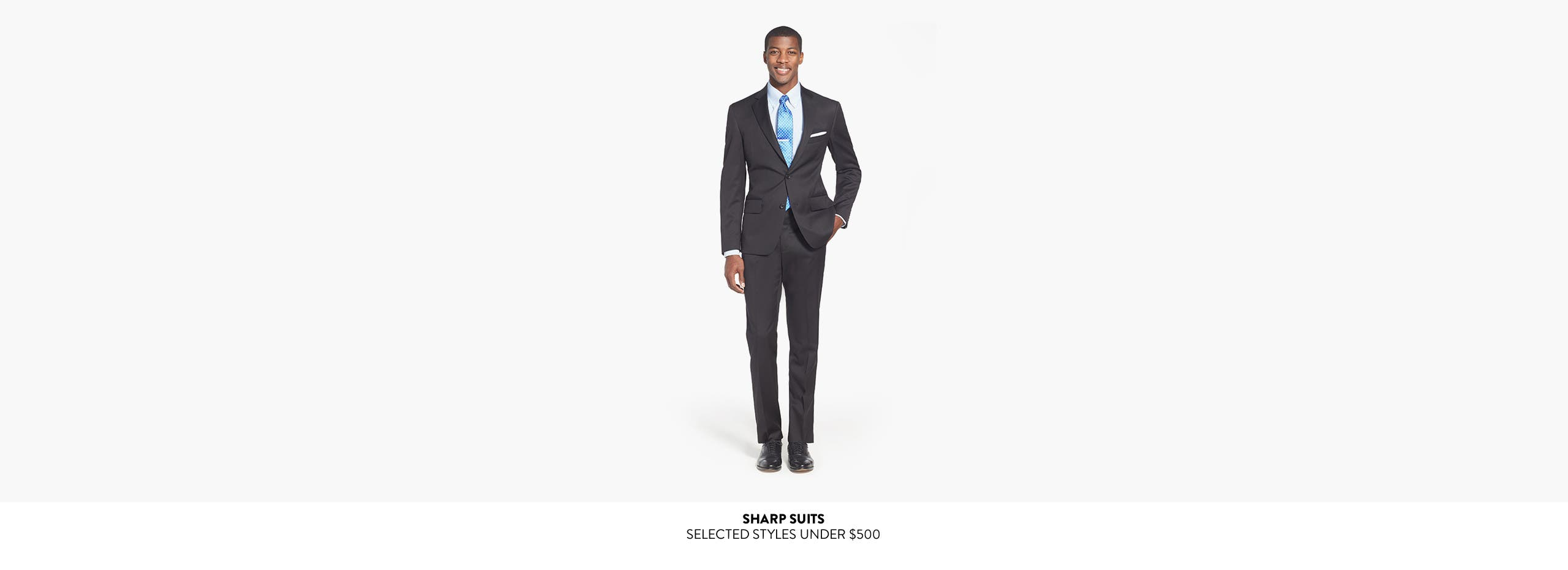 Sharp suits: selected styles under $500.