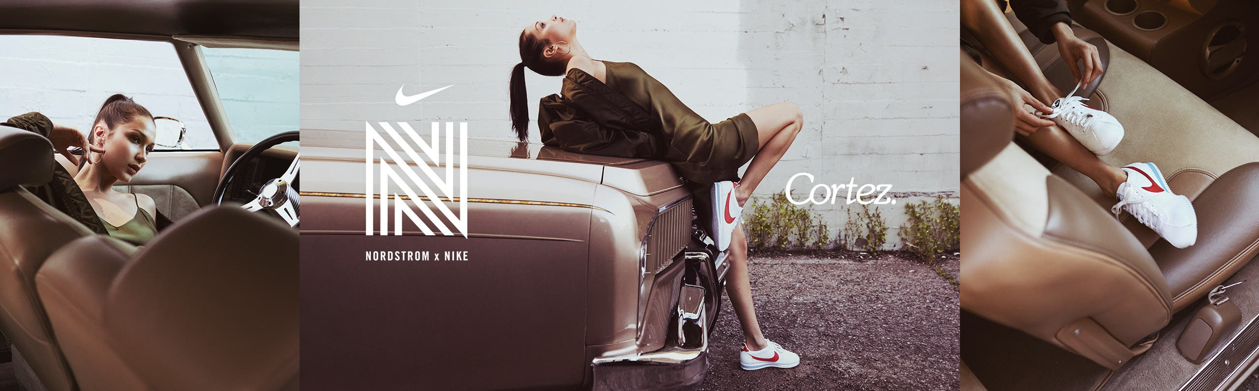 Bella x Cortez! A modern style icon in Nike's updated classic.