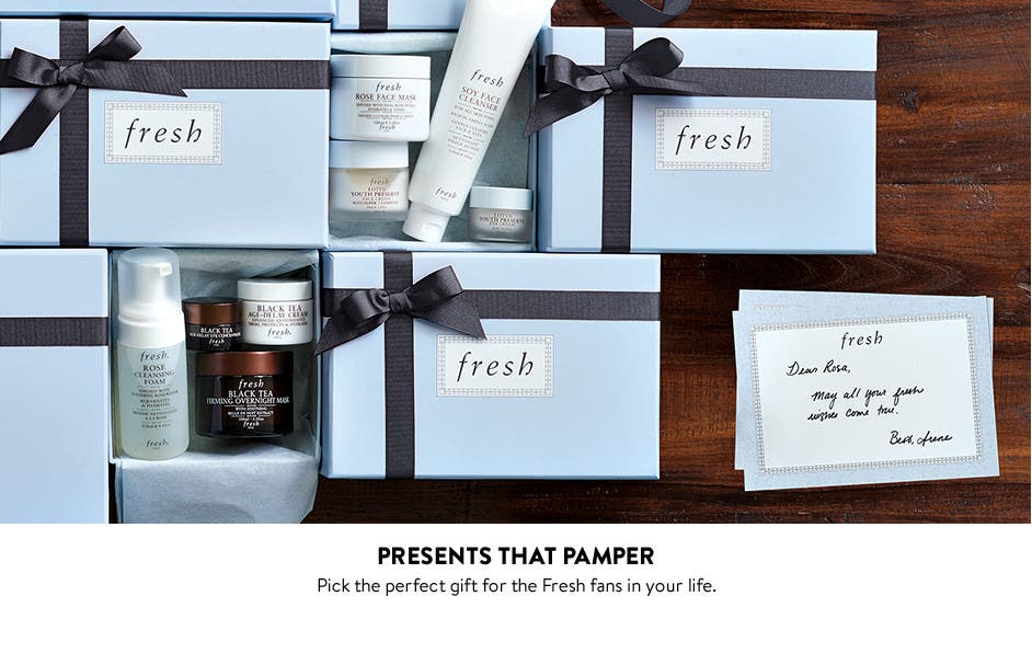 Presents that pamper.