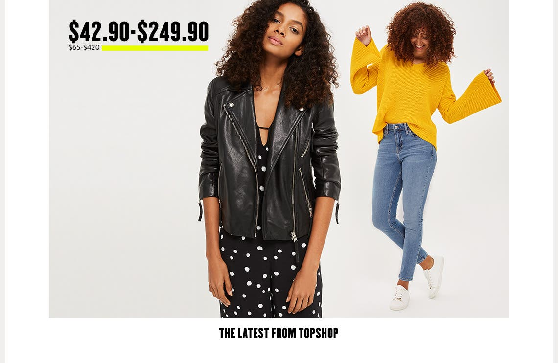 The latest from Topshop at our Anniversary Sale.