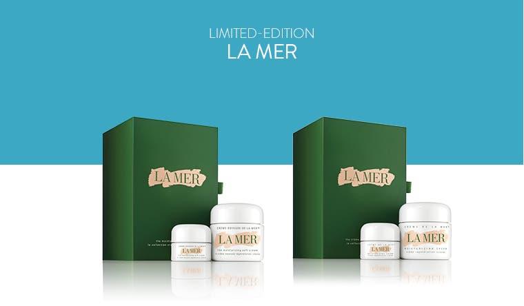 Limited-Edition La Mer skin care sets.