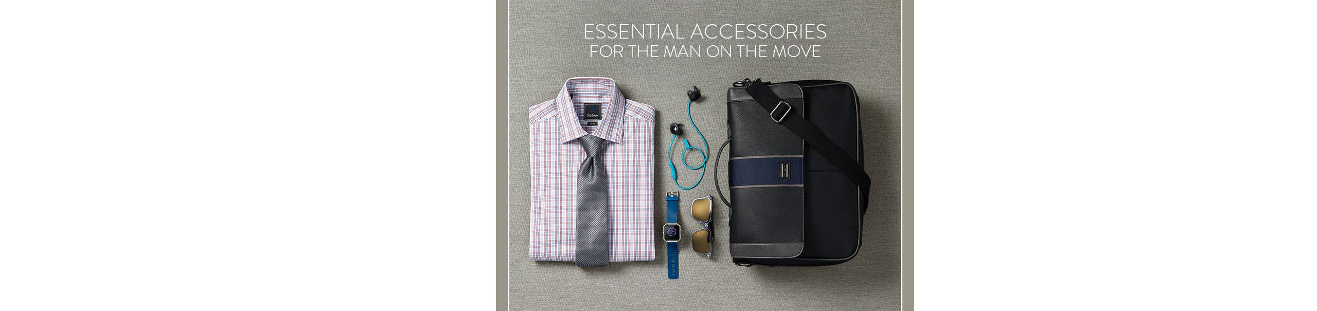 Essential accessories for the man on the move.