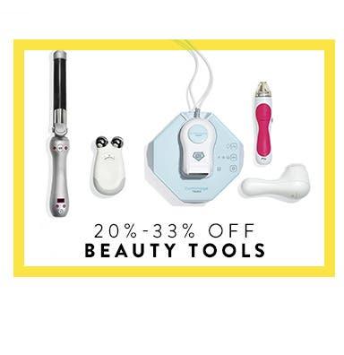 20%-33% off beauty tools.