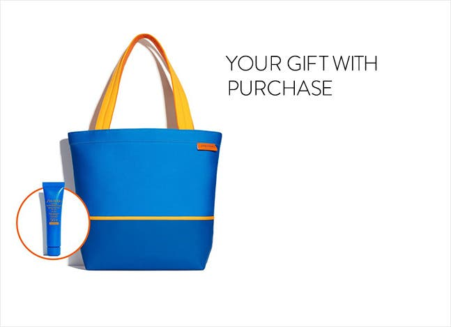 Your Shiseido sun care gift with purchase.