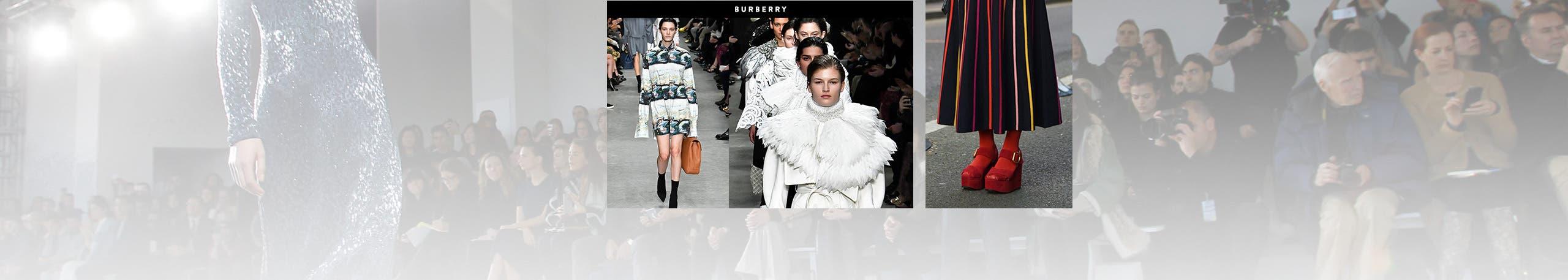 Burberry at London Fashion Week fall 2017. London Fashion Week street style.