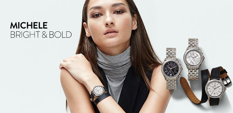 Michele watches: bright and bold.
