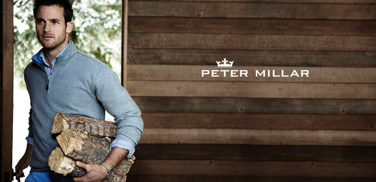 Peter Millar men's clothing.