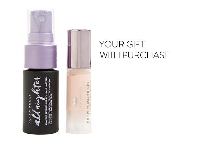 Your Urban Decay gift with purchase.