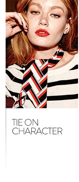 Tie on character. Shop scarves and wraps.