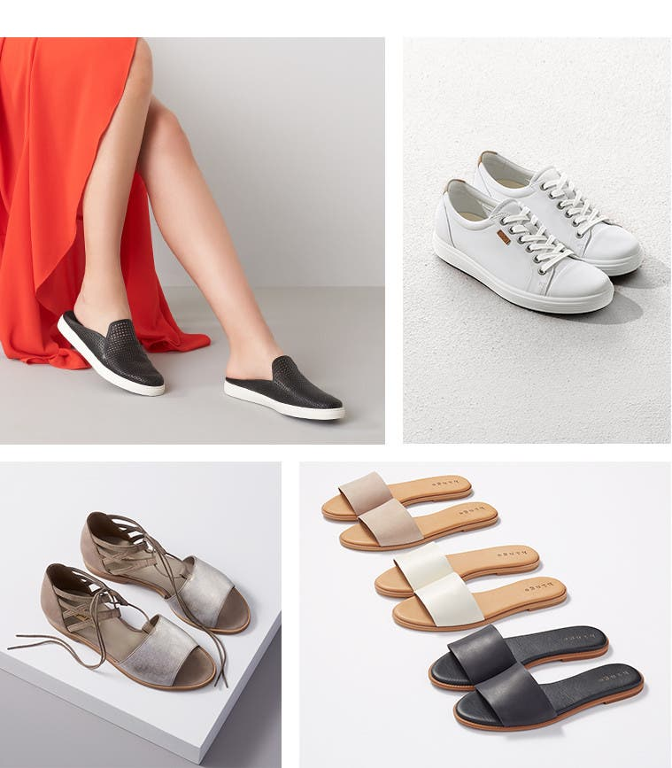 Slide or tied. Casual shoe trends.