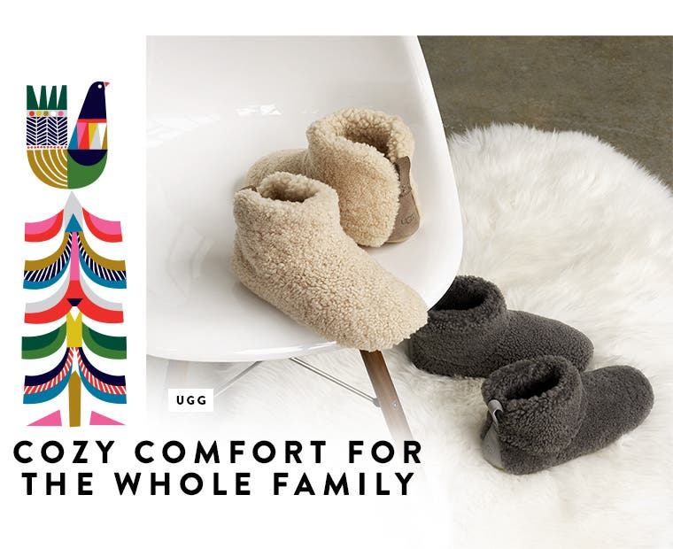 Cozy slippers for the whole family.