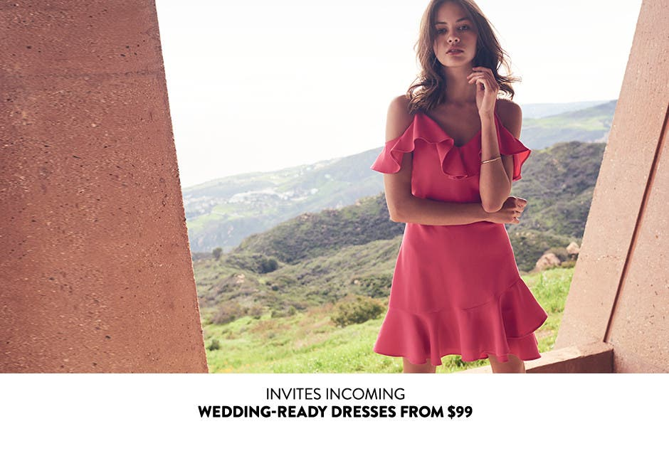 Wedding-ready dresses from $99.