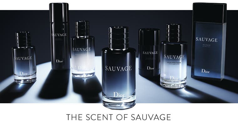 The scent of Sauvage cologne by Dior.