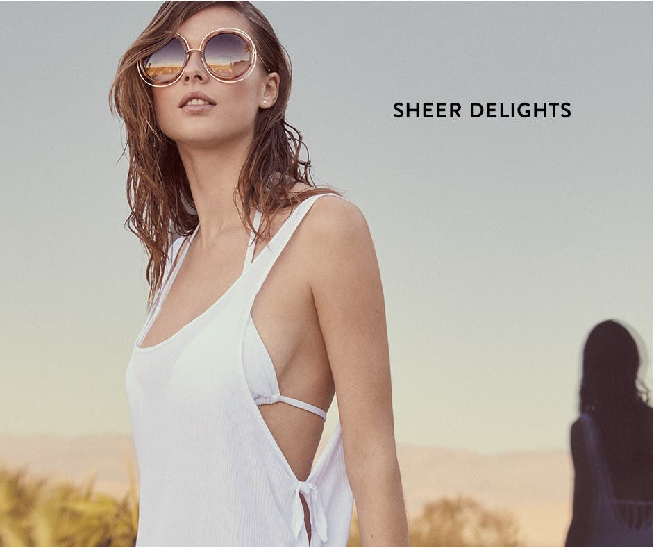 Sheer delights: beach cover-ups.