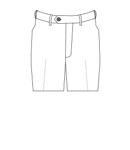 Flat-front trouser illustration.