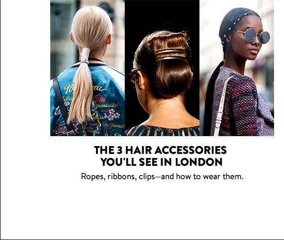 The 3 hair accessories you'll see at London Fashion Week.