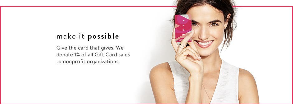 Make it possible with Gift Cards and eGift Cards.