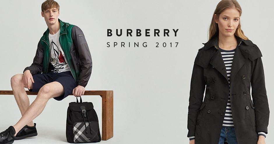 Burberry spring 2017 for women, men and kids.