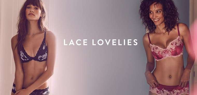 Lace lovelies: mood-boosting lace lingerie.