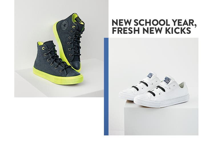 New school year, fresh new kicks.