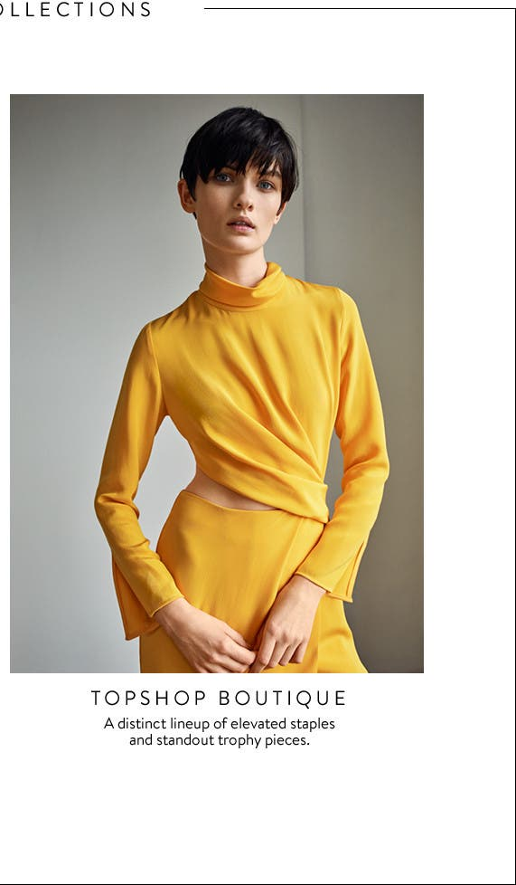 Topshop Boutique: a distinct lineup of elevated staples and standout trophy pieces.