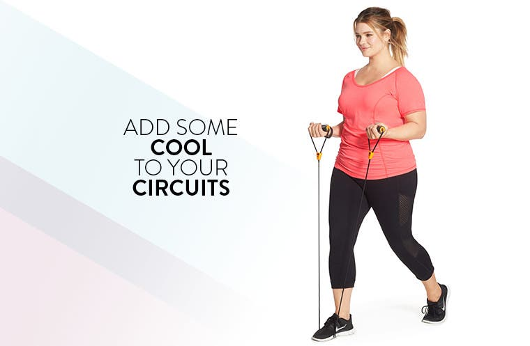 Add some cool to your circuits: plus-size workout and yoga clothing.