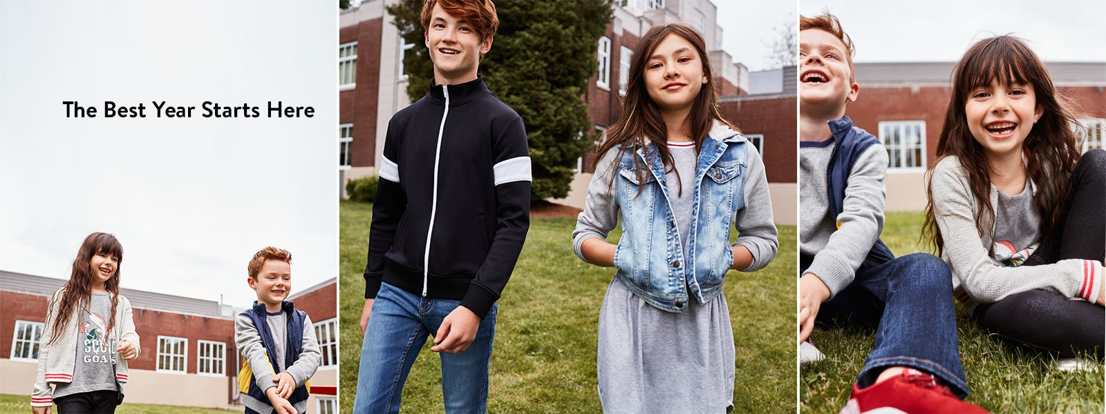 The best year starts here. Back-to-school kids' clothing, shoes and accessories.